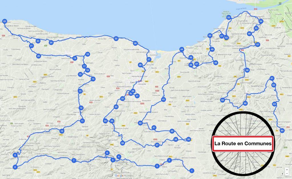 Trajet La Route en communes